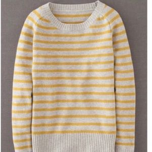 Boden Everyday Yellow Striped Wool Sweater